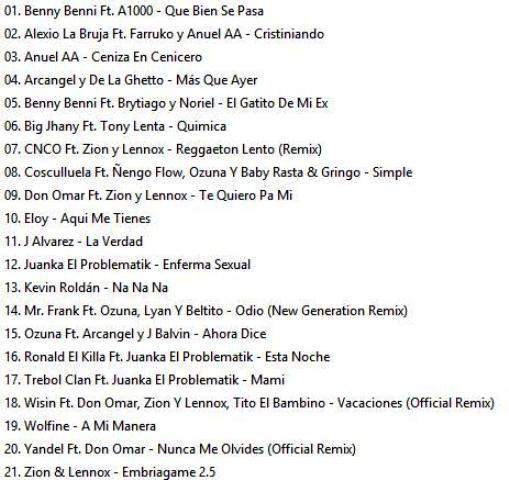 Reggaeton Latino Hits Vol.19-23 (2017)