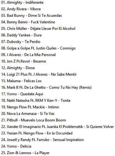 Reggaeton Latino Hits Vol.32 ( February-2018 )